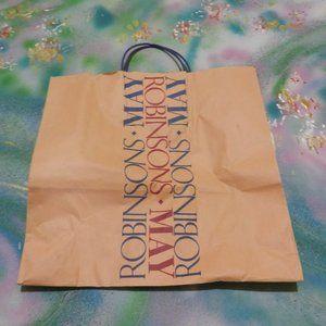 Vtg Robinsons May Co shopping bag/tote